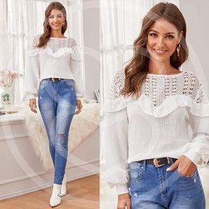 KENDALL Knit Ruffles Sweater